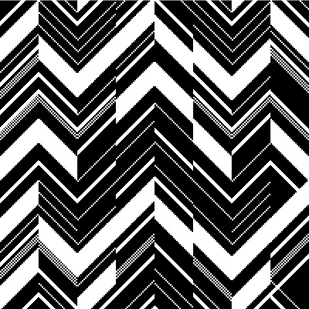 Pattern in zigzag - black and white Vector