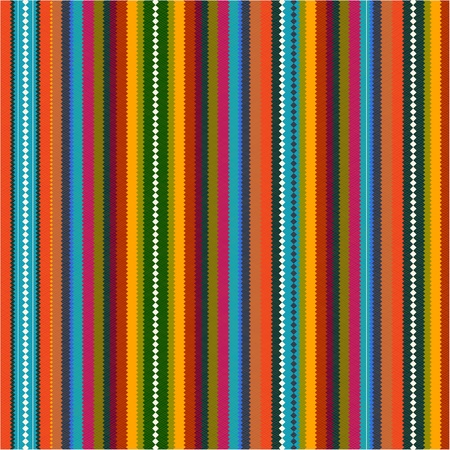 Pattern with colorful zig zag Vector
