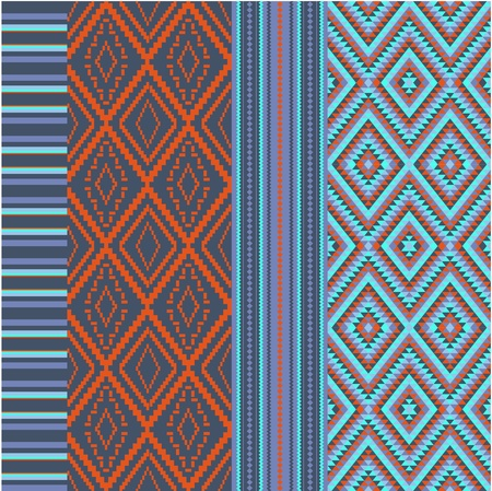 Various colored motifs  Vector