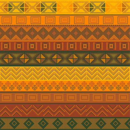 Various motifs in different color Illustration