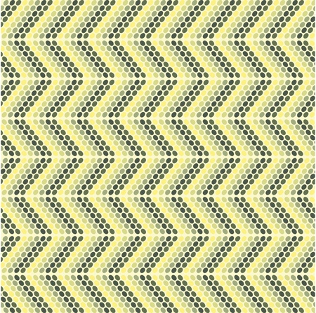 Zigzag pattern with oval models Vector