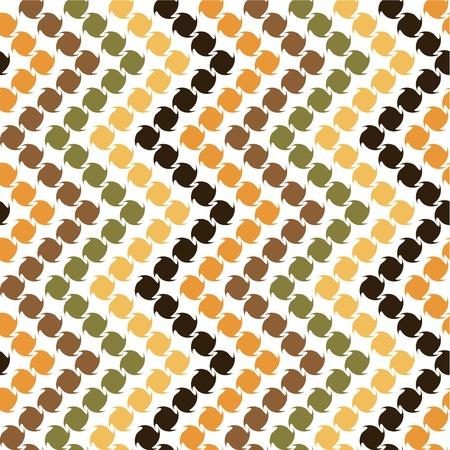 abstracte vormen: Zigzag met abstracte vormen