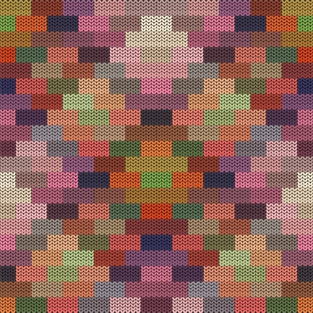 ethnic pattern: Abstract pattern - knit colorful