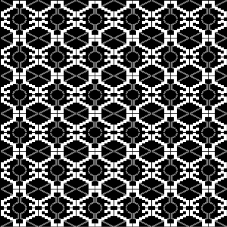Ethnic black and white texture Vector