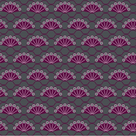 Fan ornamental background Vector