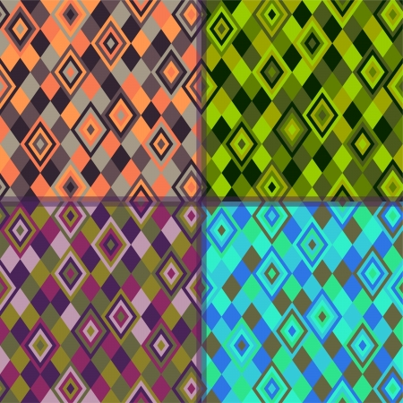 Geometric pattern - rhombus 4 colors Vector