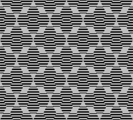 Hexagon seamless pattern with lines Stock Vector - 13883726
