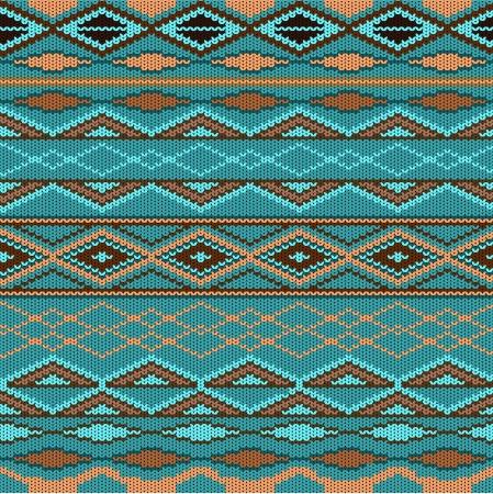 kopftuch: Muster - Wolle gestrickt Illustration