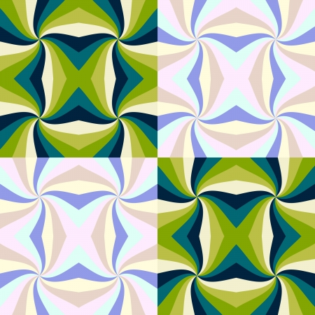 Pattern in abstract style - duotone colors Vector