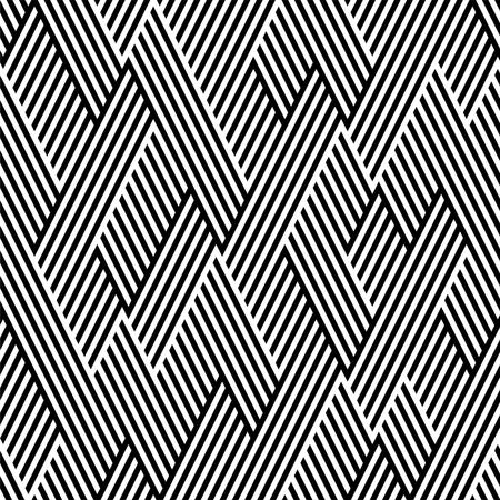 arte optico: Patr�n en zig-zag con la l�nea de blanco y negro