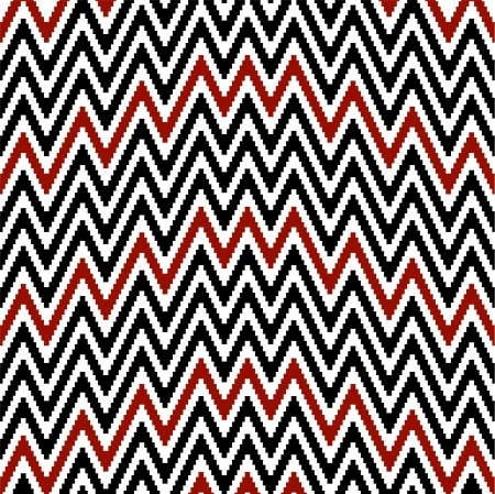 Pattern irregularly zigzag