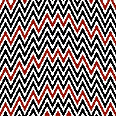 Pattern irregularly zigzag