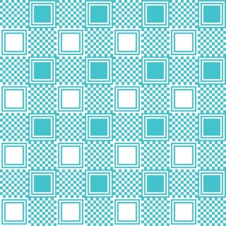 Pattern with blue square Stock Vector - 13883731