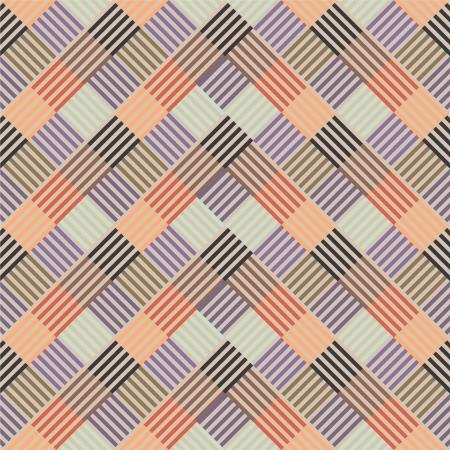 arte optico: Patrón con línea de color en las plazas Vectores