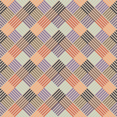 Pattern with colored line in squares Vector