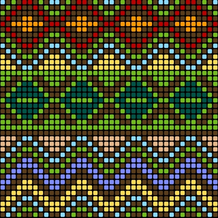 Pattern with multicolored elements Vector