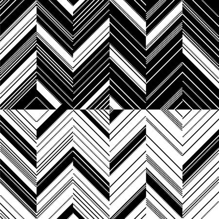 arte optico: Zigzag en espejo