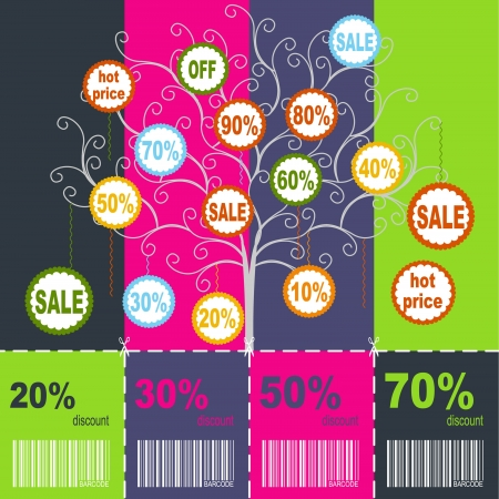 Sale coupons Illustration