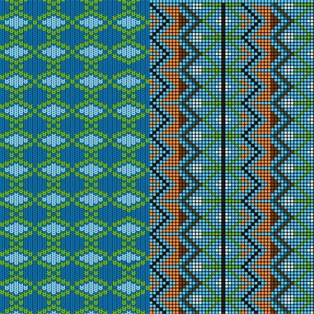 tejidos de punto: Dos patrones de punto