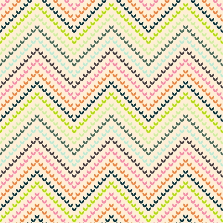 Zigzag pattern in warm color Vector