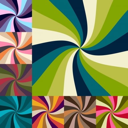 radial background: Abstract sunburst pastel colorful