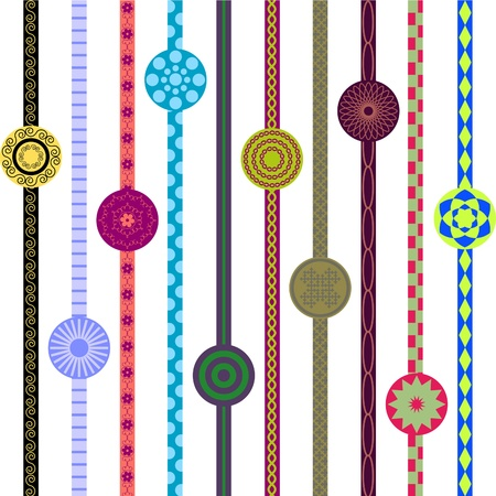 striped band: Ornaments on lines and circle