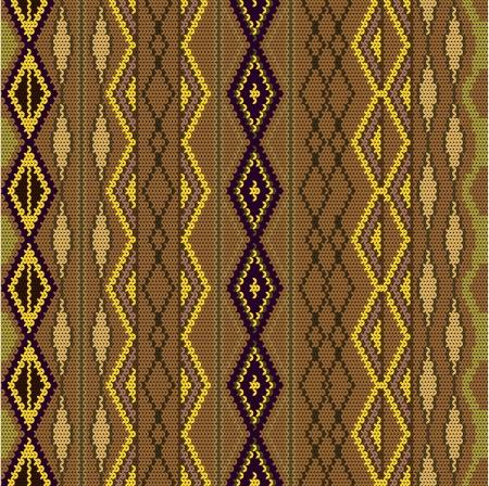 tejidos de punto: Patr�n - lana de punto de color en color marr�n
