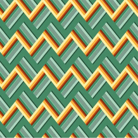 Colorful zigzag pattern Stock Vector - 15077907