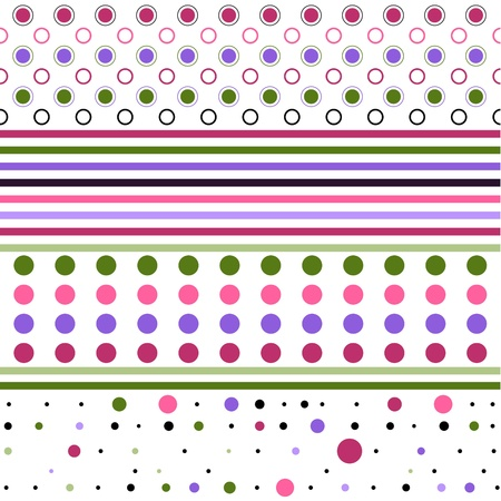 pastel tone: Dots and line for backgrounds Illustration