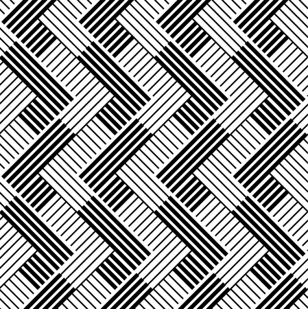 Pattern with line black and white Stock Vector - 15077904