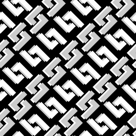 Abstract seamless in black and white  Illustration