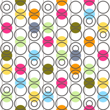 retro pattern: Background with circles  Vector illustration
