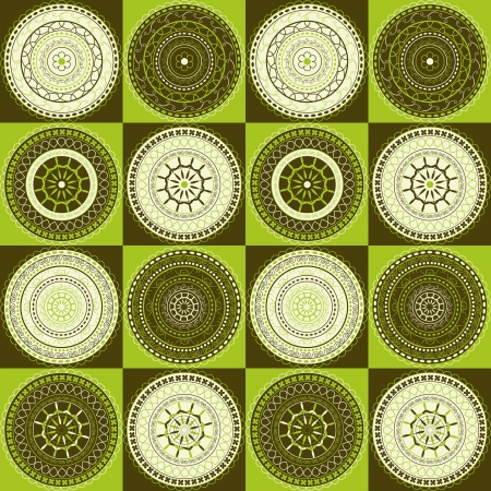 Delicate pattern with circles  Vector