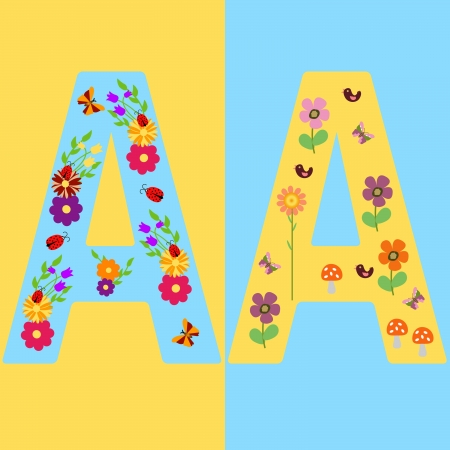 duet: Funny initials letter A