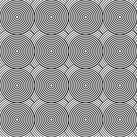 Pattern in with circle black and white  Vector