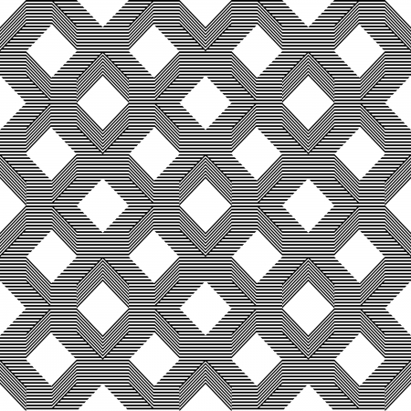 Seamless pattern with line black and white  Vector