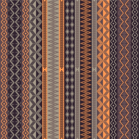 Texture with vertical geometrical ornaments  Vector