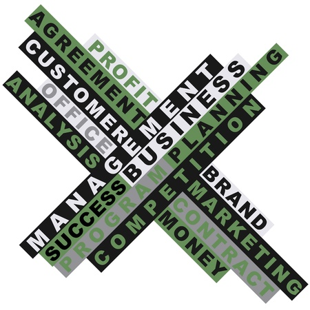 responsabilidad: Word collage negocios Vectores