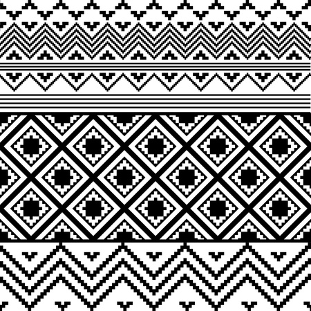 Black and white ethnic texture  Vector