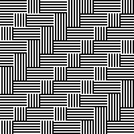 optical art: Modelo con raya en blanco y negro