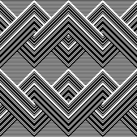wavy fabric: Black and white pattern by lines Illustration