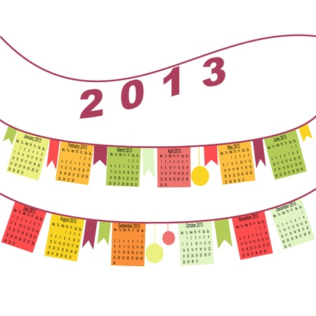 metaphoric: Calendar for 2013 like flags