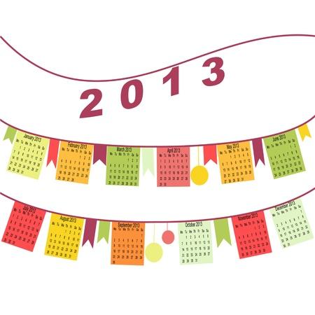 allegoric: Calendar for 2013 like flags
