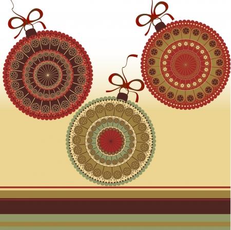 Christmas illustration - greeting card Stock Vector - 16160436