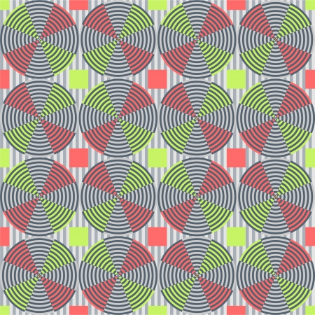 physiological: Circle - optical illusion with geometric drawing