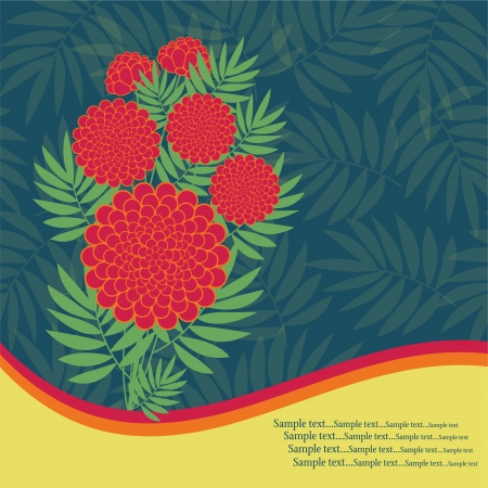 Elegance card with flowers Illustration