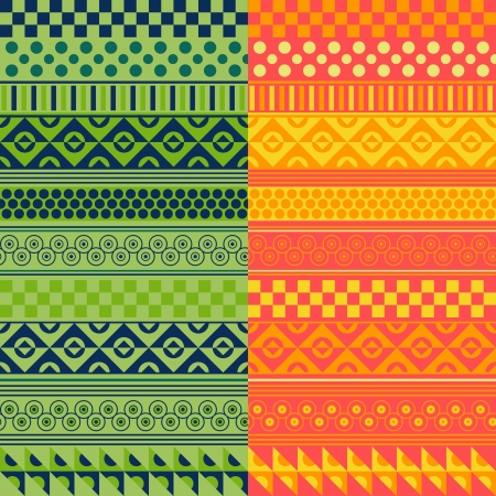 Texture with geometrical ornaments in two range of colors Vector