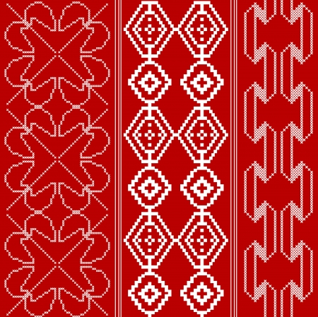 Traditional red and white pattern Vector