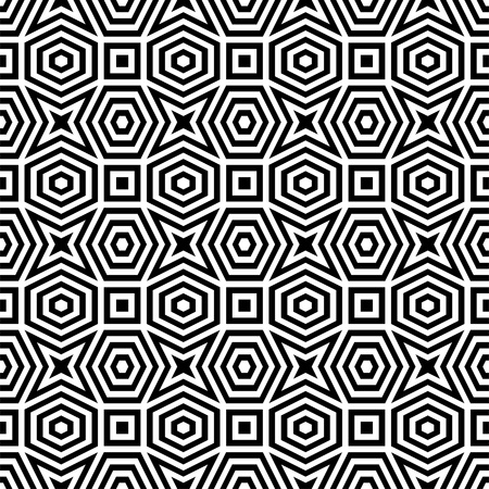 Abstract black   white pattern Illustration