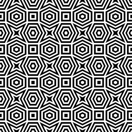 Abstract black   white pattern Illustration
